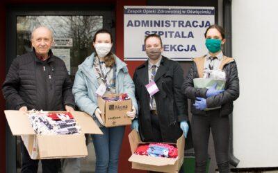 Ponad 500 maseczek ochronnych przekazanych do szpitala